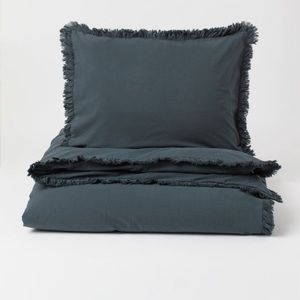 Flounced Duvet Cover Set (Queen) - H&M Home